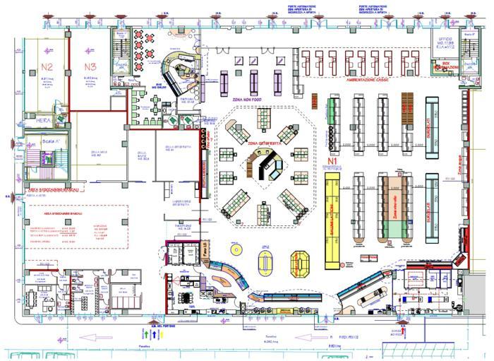 Fase 3 immagine della planimetria locali dopo dell for Layout della planimetria della cucina